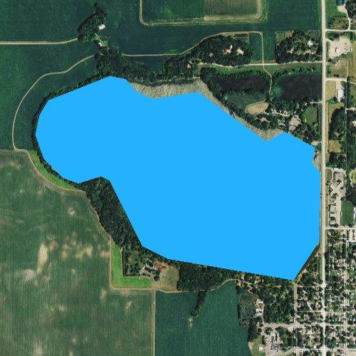 Fly fishing map for Sleepy Eye Lake, Minnesota