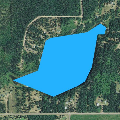 Fly fishing map for Sleepy Eye Lake, Wisconsin