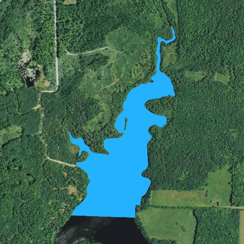 Fly fishing map for Smith Lake: Price, Wisconsin
