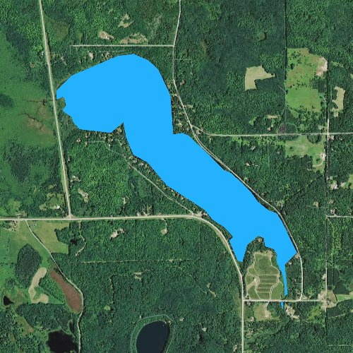 Fly fishing map for Smith Lake, Wisconsin