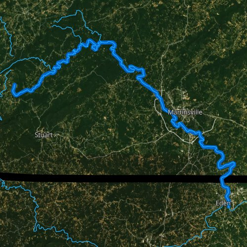 Fly fishing map for Smith River, Virginia