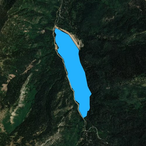 Fly fishing map for Smith and Morehouse Reservoir, Utah