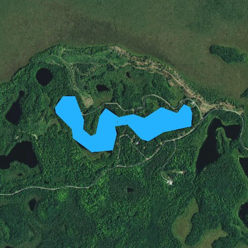 Fly fishing map for Snag Lake, Wisconsin