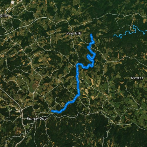 Fly fishing map for Snake Creek, Virginia