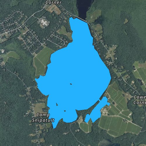 Fly fishing map for Snipatuit Pond, Massachusetts