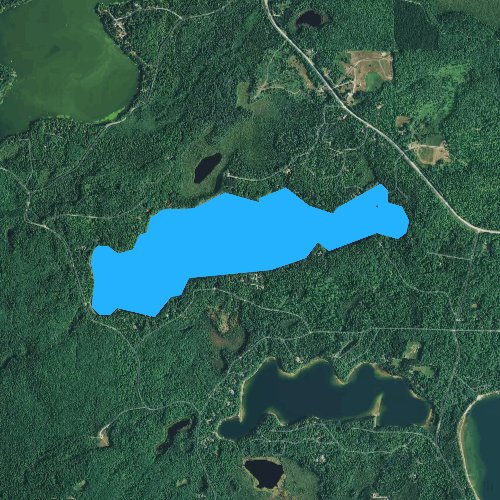Fly fishing map for Snipe Lake, Wisconsin