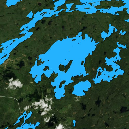 Fly fishing map for Snowbank Lake, Minnesota