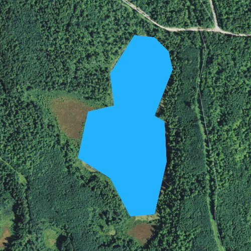 Fly fishing map for Snowshoe Lake, Minnesota