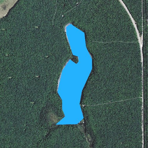 Fly fishing map for Snyder Lake, Michigan