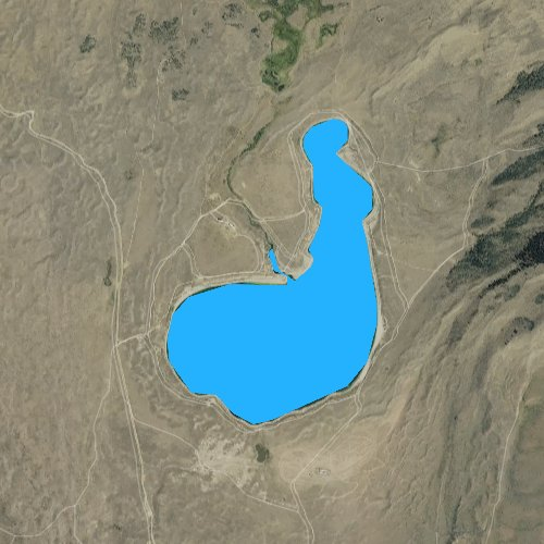 Fly fishing map for Soda Lake, Wyoming