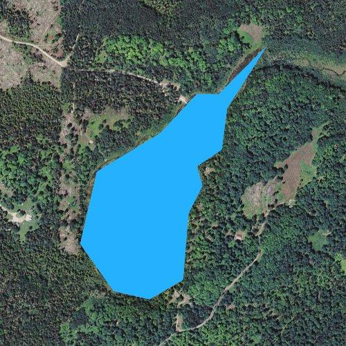 Fly fishing map for Solberg Lake, Michigan