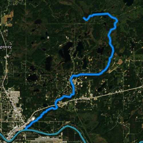 Fly fishing map for Soldotna Creek, Alaska