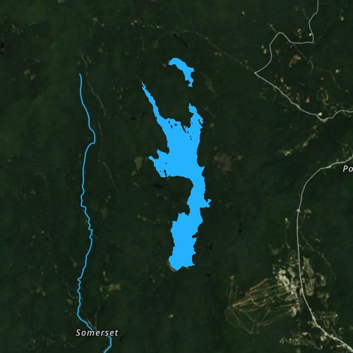 Fly fishing map for Somerset Reservoir, Vermont