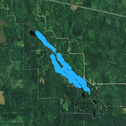 Fly fishing map for Somo Lake, Wisconsin