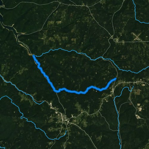 Fly fishing map for South Branch Kinzua Creek, Pennsylvania