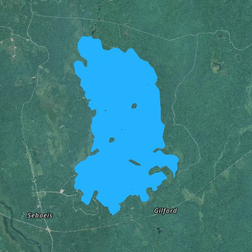 Fly fishing map for South Branch Lake, Maine
