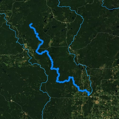 Fly fishing map for South Branch Oconto River, Wisconsin