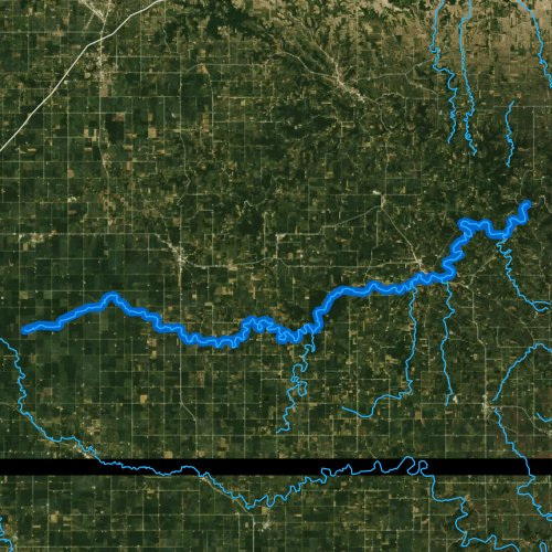 Fly fishing map for South Branch Root River, Minnesota