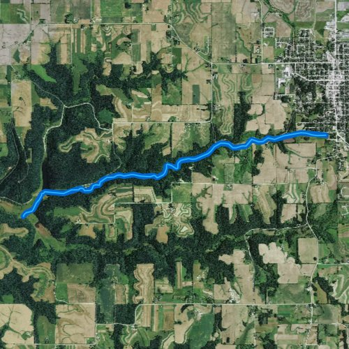 Fly fishing map for South Fork Bad Axe River, Wisconsin