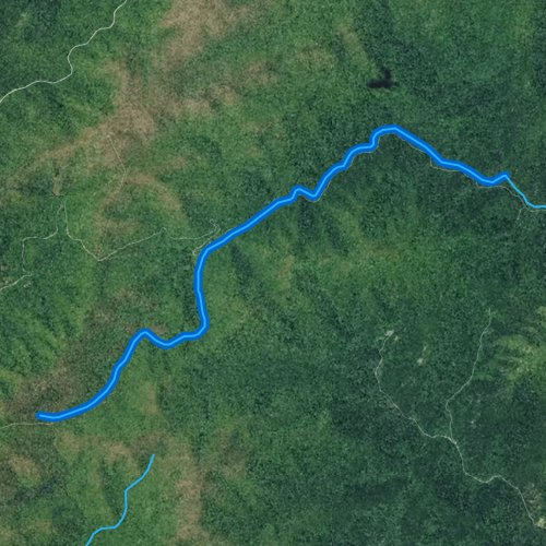Fly fishing map for South Fork Piney River, Virginia