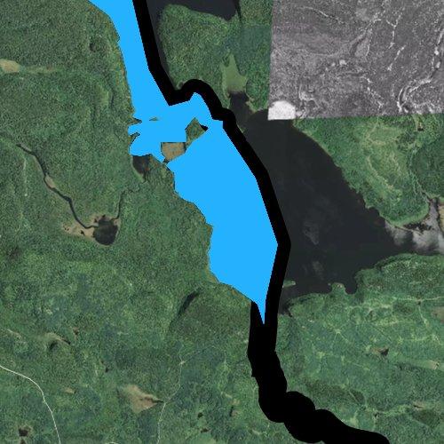 Fly fishing map for South Fowl Lake, Minnesota