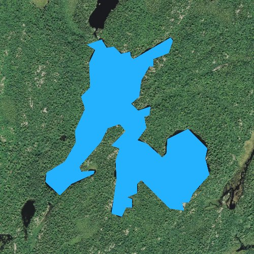 Fly fishing map for South Hegman Lake, Minnesota