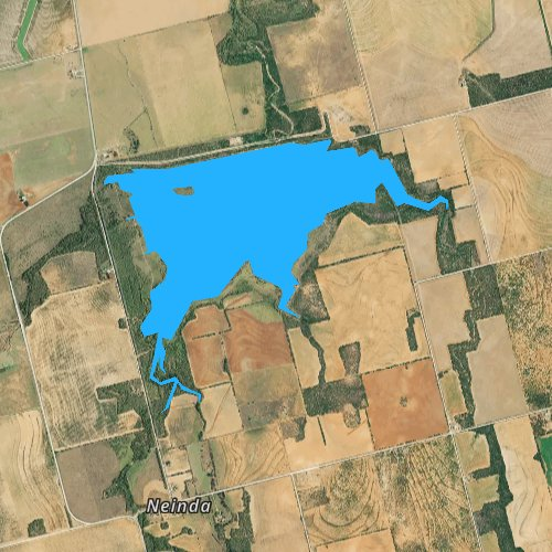 Fly fishing map for South Lake, Texas