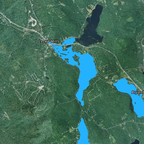 Fly fishing map for South Pond, Maine