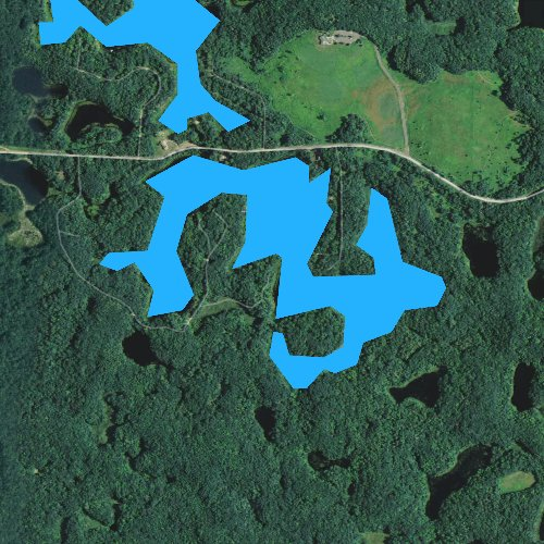 Fly fishing map for South Shattuck Lake, Wisconsin