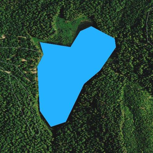 Fly fishing map for South Skookum Lake, Washington