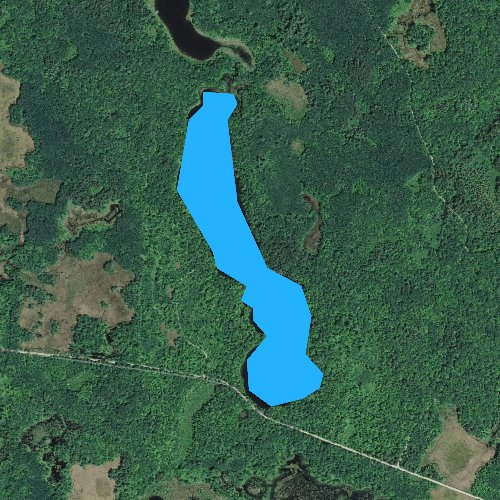 Fly fishing map for South Stocking Lake, Minnesota