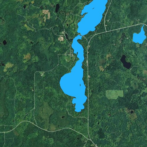 Fly fishing map for South Turtle Lake, Wisconsin