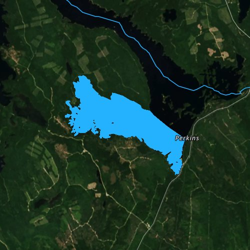 Fly fishing map for South Twin Lake, Maine