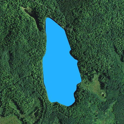 Fly fishing map for South Twin Lake: Taylor, Wisconsin