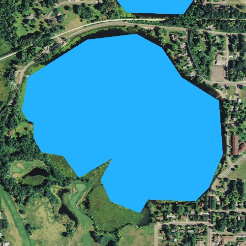 Fly fishing map for South Twin Lake, Wisconsin