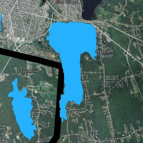 Fly fishing map for South Watuppa Pond, Massachusetts