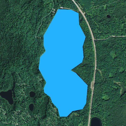 Fly fishing map for Sparkling Lake, Wisconsin