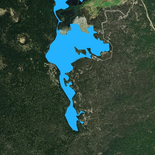Fly fishing map for Sparks Lake, Oregon