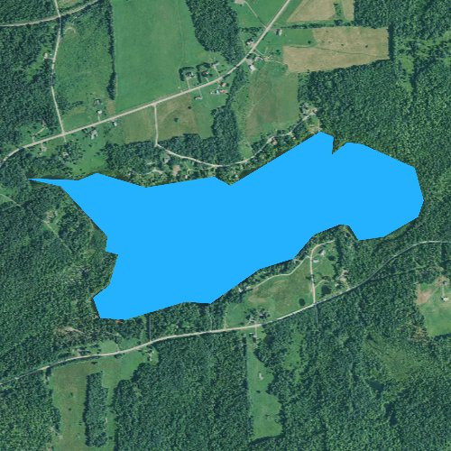 Fly fishing map for Spaulding Lake, Maine