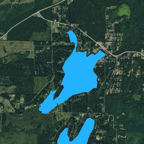Fly fishing map for Spencer Lake, Washington
