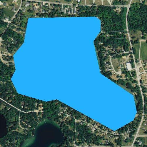Fly fishing map for Spencer Lake, Wisconsin