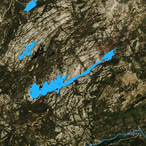 Fly fishing map for Spicer Meadow Reservoir, California