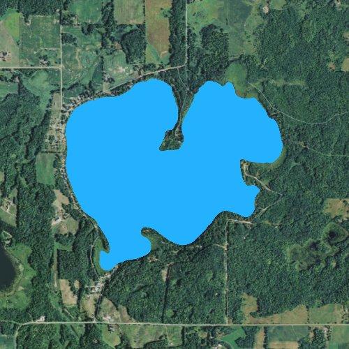 Fly fishing map for Spirit Lake: Burnett, Wisconsin