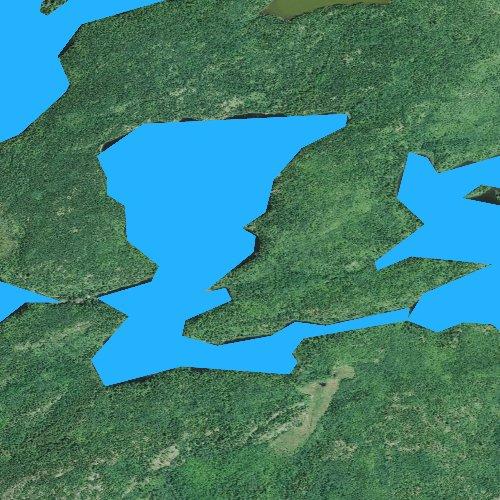 Fly fishing map for Splash Lake, Minnesota