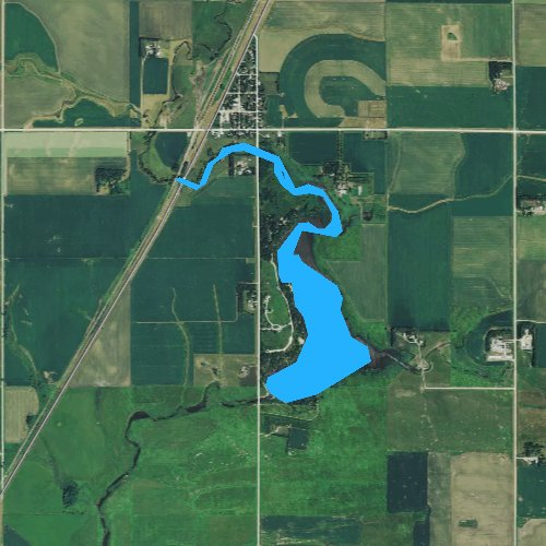 Fly fishing map for Splitrock Lake, Minnesota