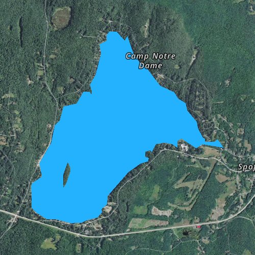Fly fishing map for Spofford Lake, New Hampshire