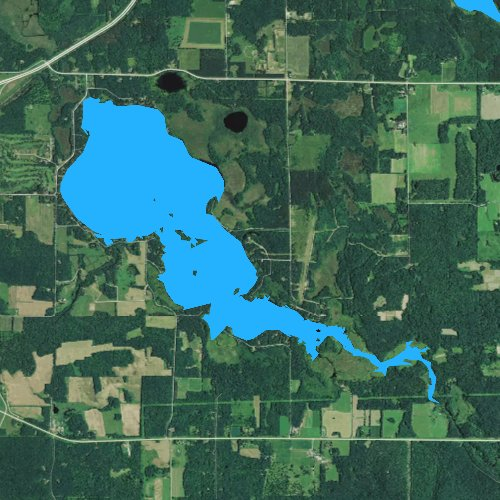 Fly fishing map for Spooner Lake, Wisconsin