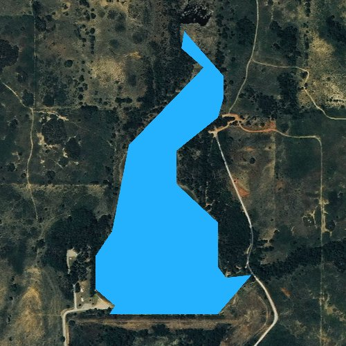 Fly fishing map for Spring Creek Lake, Oklahoma
