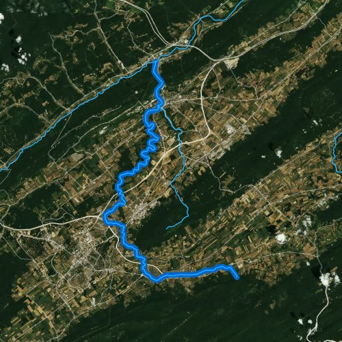 Fly fishing map for Spring Creek, Pennsylvania