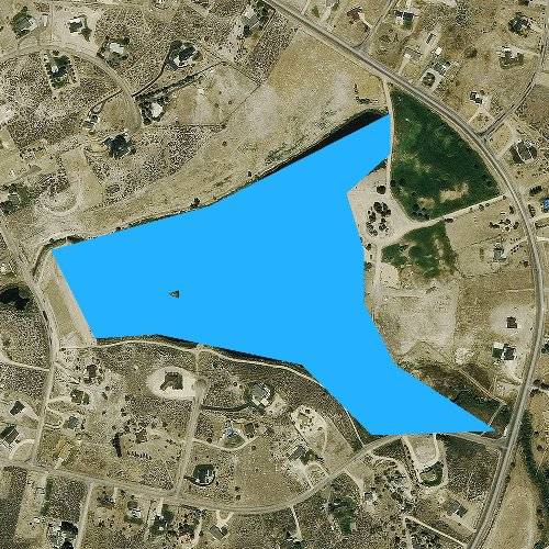 Fly fishing map for Spring Creek Reservoir, Nevada